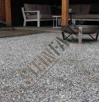 Dolomite gris-argent concassé